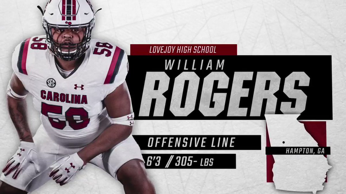 BIG start to the day! Gamecock Nation, let's welcome @William_Rogers_ to the family!