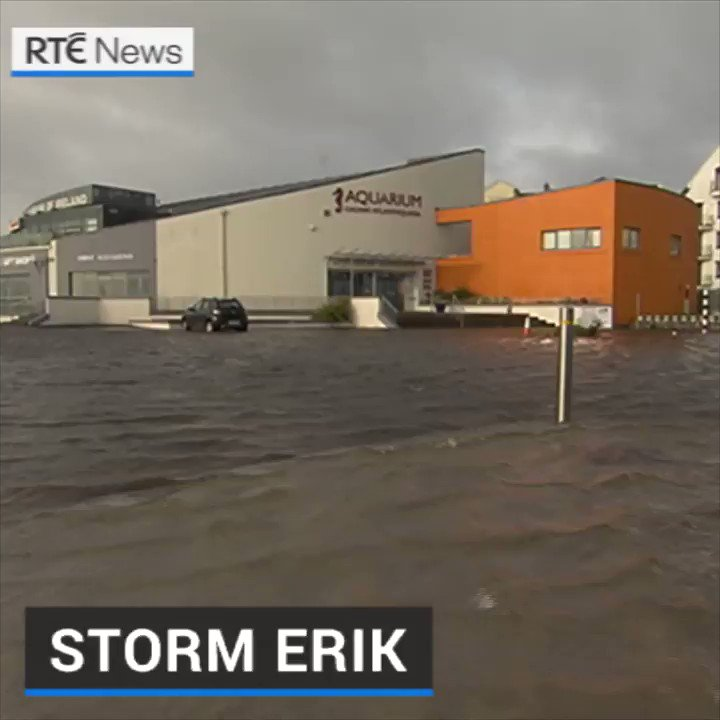 High tides and storm surges have resulted in some coastal flooding along the promenade in Salthill following storm force winds overnight. |  https://bit.ly/2HXUOfn #stormerik