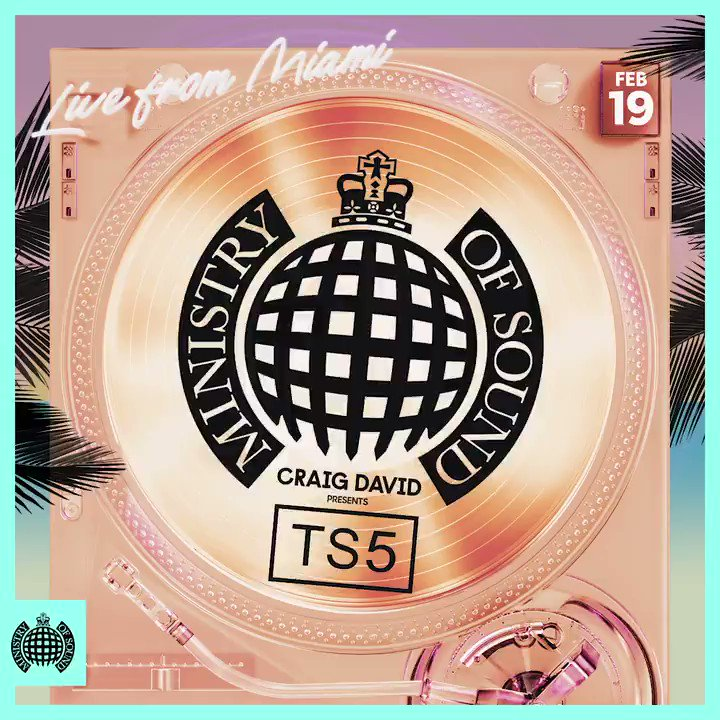 Bringing the Miami vibes to @ministryofsound with my new @TS5 Ministry mix🙌🏽🌴😎 You can listen exclusively on @AppleMusic👉🏽 https://t.co/6CytDftaZ2 #TS5 https://t.co/QEuWPZgP7Q
