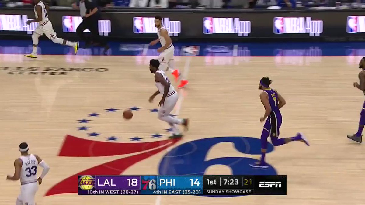 #JoelEmbiid powers @sixers to home win with 37 PTS & 14 REB! #HereTheyCome https://t.co/n3wLGMNX6q
