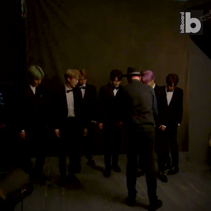Behind-the-scenes at the #GRAMMYs with @BTS_twt 🤗