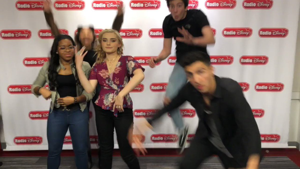 #ZOMBIES2 was just announced and this was basically our reaction 😂 @ImMegDonnelly @MiloManheim