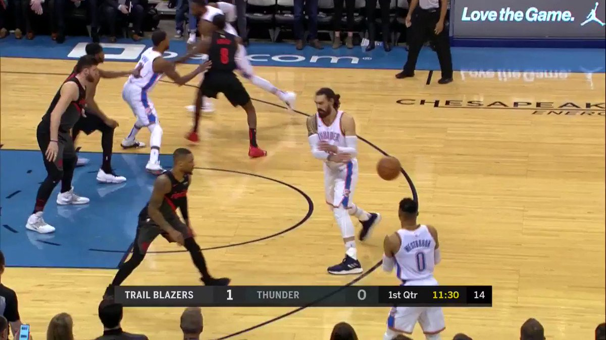 17 PTS for PG in the 1st quarter! #ThunderUp  WATCH on NBALP: https://t.co/iPjKqpSDr5 https://t.co/ujf2URaSH9