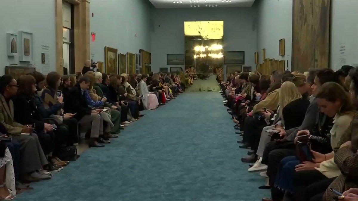 Carolina Herrera forecasts a colorful fall/winter at #NYFW