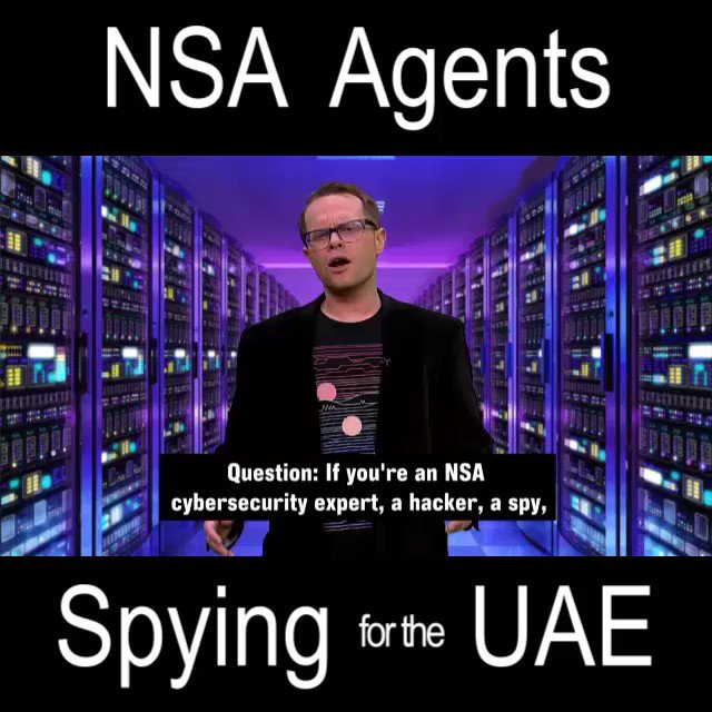 #DYK the UAE hired US-trained NSA Agents to spy on their subversives?  They also ended up watching USians.