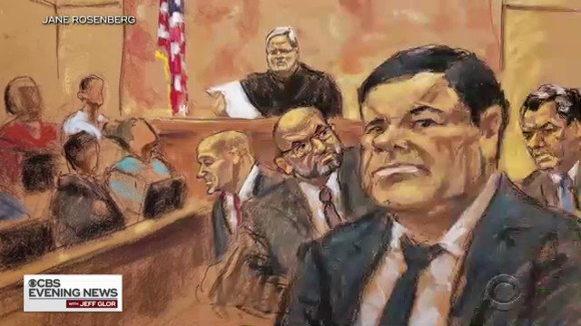 """Notorious Mexican drug lord """"El Chapo"""" was convicted Tuesday of running a smuggling ring that dumped more illegal drugs on American streets than any other criminal in history.  The man described as a """"cold-blooded executioner"""" may be in jail for life.  @Jerickaduncan has more"""