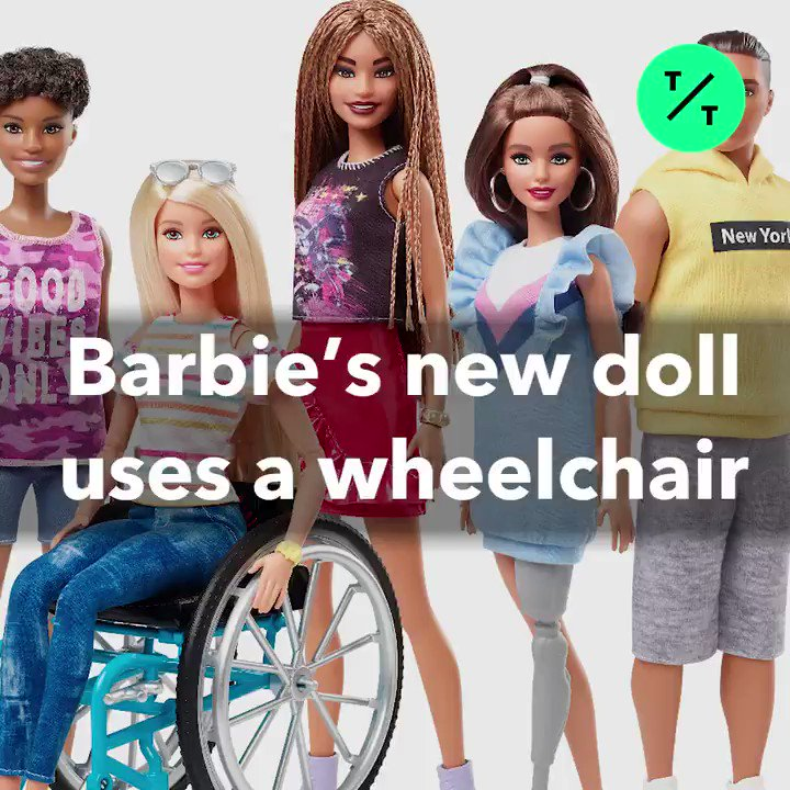 Barbie's newest dolls use wheelchairs and have prosthetic limbs