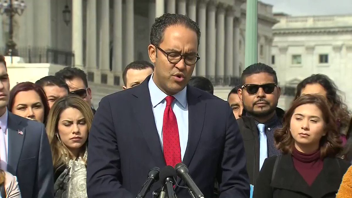 """""""I am here because there's 1.2 million young men and women who have only known the United States of America that have to live under uncertainty.""""  Rep. Will Hurd is calling for a DACA fix in the 116th Congress."""