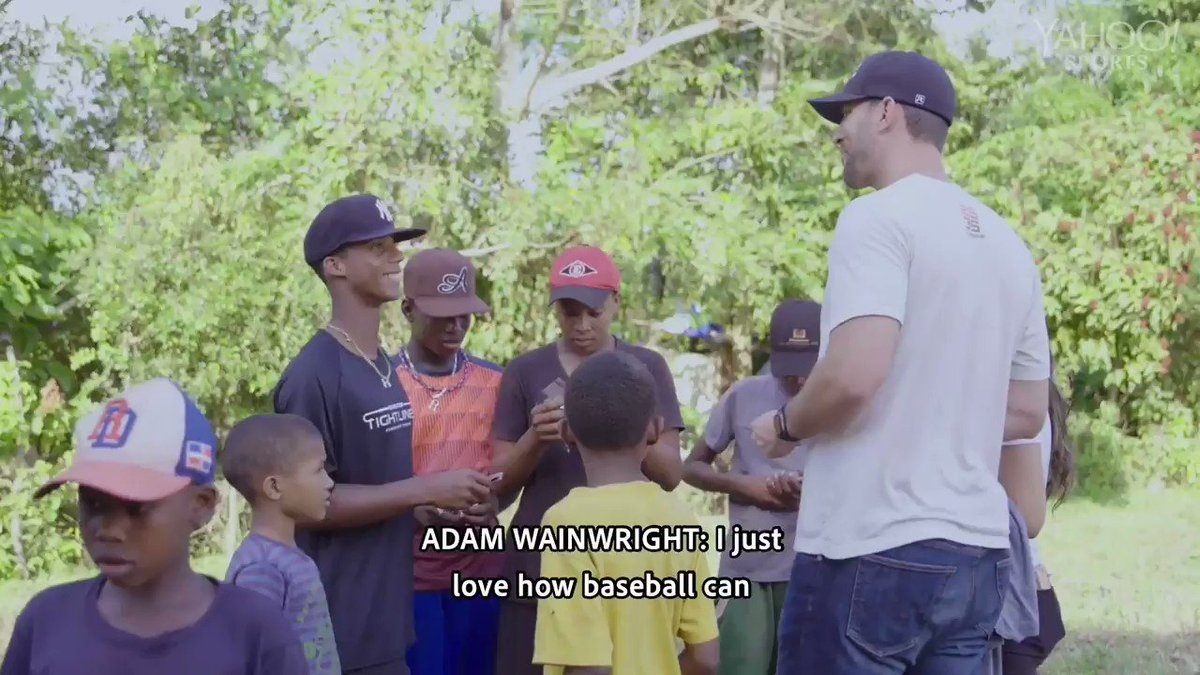 Adam Wainwright ( @UncleCharlie50 ) knows that the value of baseball goes beyond just the game.  He and @BigLeagueImpact are showing how baseball can help change the world 📺
