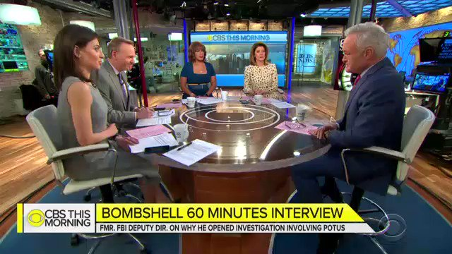 """.@ScottPelley on what McCabe told @60Minutes: """"There were meetings at the Justice Department at which it was discussed whether the vice president and a majority of the cabinet could be brought together to remove the president of the United States under the 25th Amendment."""""""