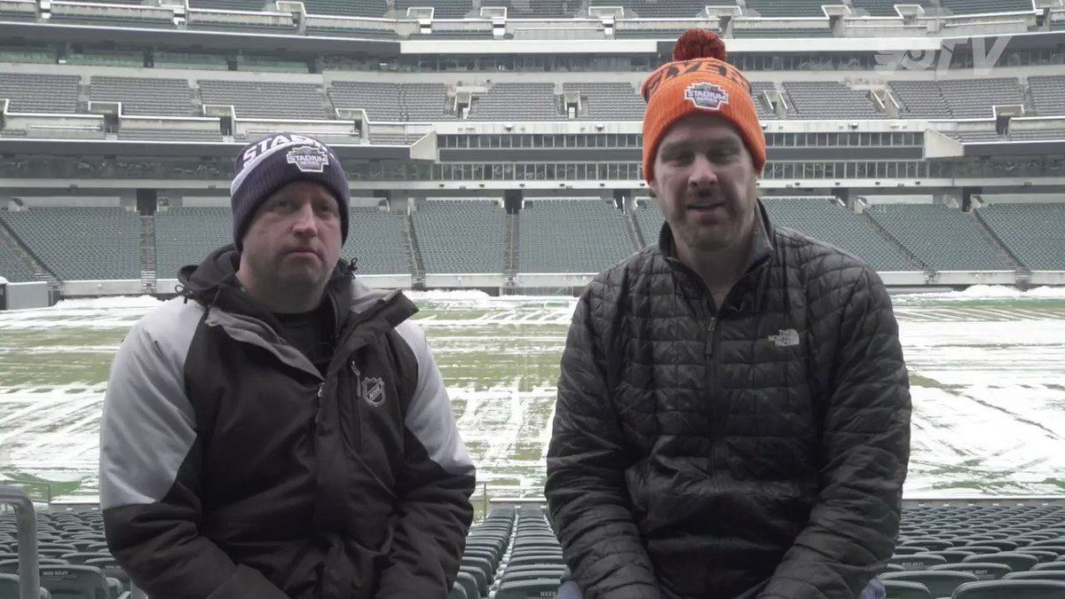 The #StadiumSeries is almost here and @ctherien6 stopped by @LFFStadium for a behind-the-scenes look at the rink construction! #LetsGoFlyers