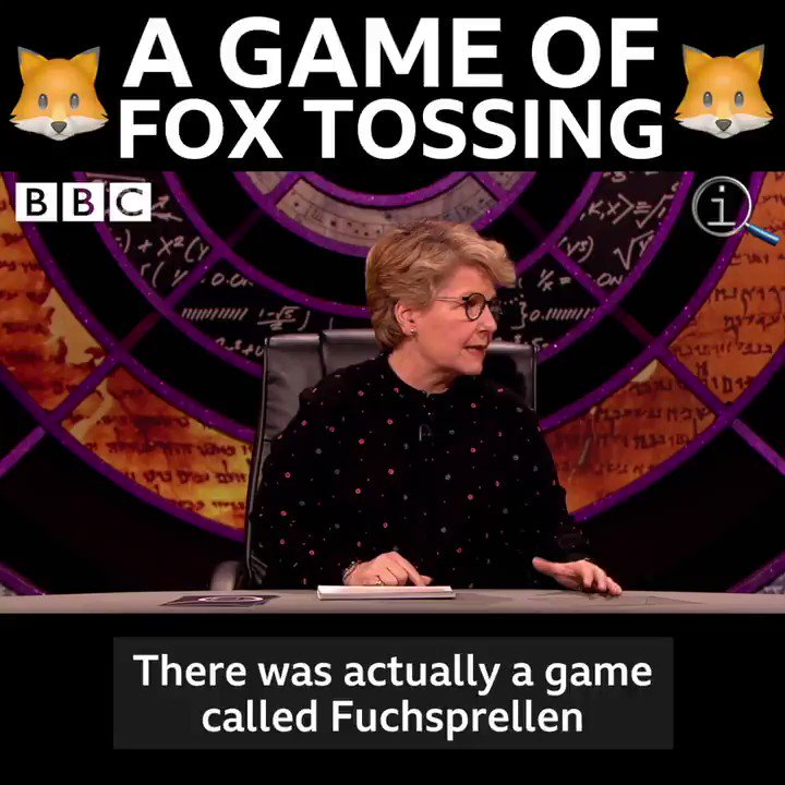 Tossing a fox in the air used to be a real sport! 🦊😲 #QI