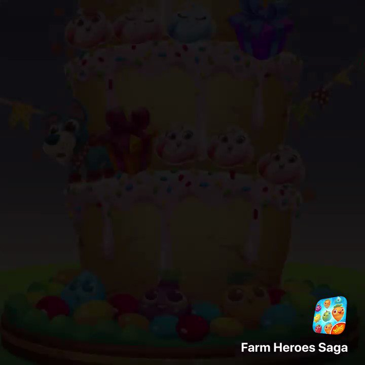 Happy birthday @FarmHeroesSaga 🎂Celebrate by playing 18 of the best levels of this farmtastic match-3 for its special 5-year live-op!https://t.co/5xhbdT1sBH