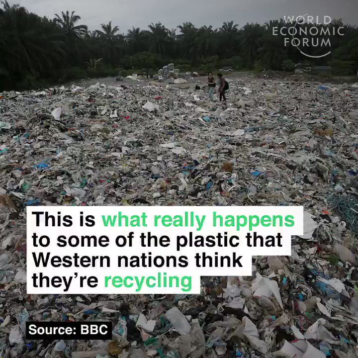 Globally we produce 350 million metric tons of plastic every year.   Read more: https://wef.ch/2S5fmCm #recycling #environment