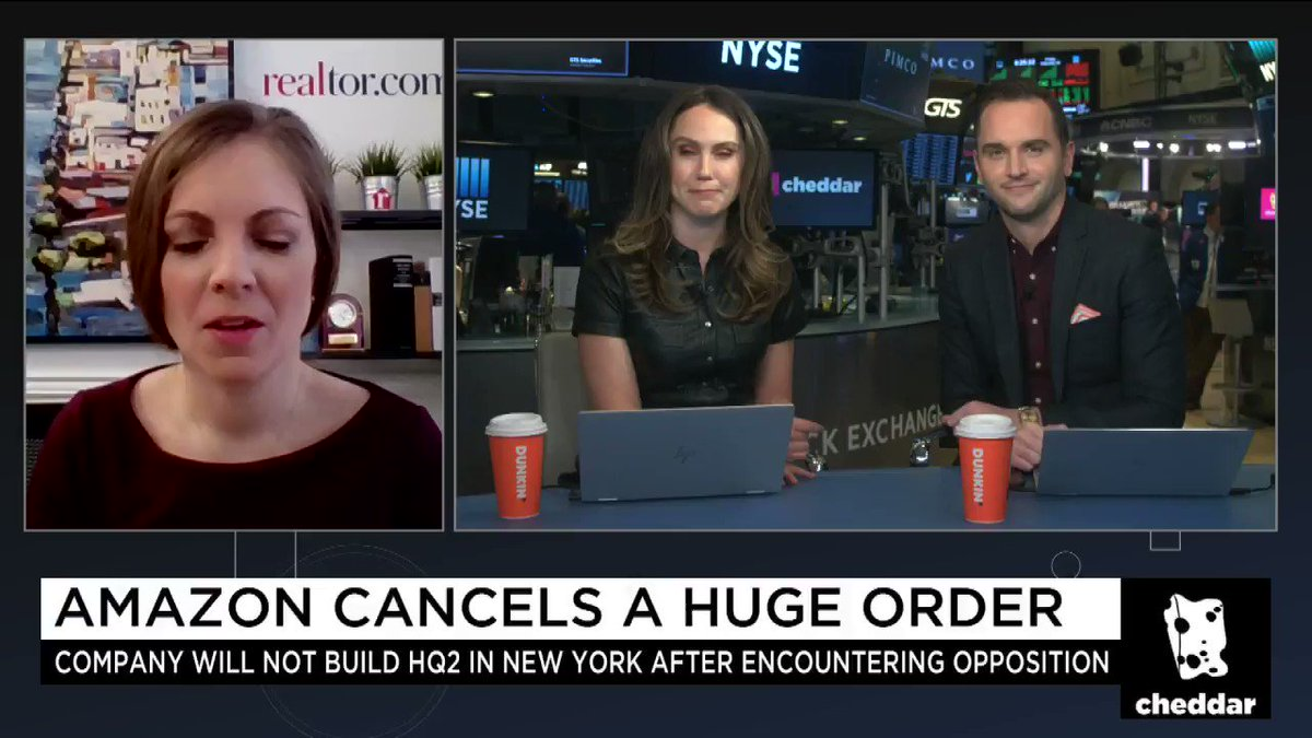 """""""People expected all the jobs to come in and add to housing demand and for prices and sales to increase.""""@realtordotcom Chief Economist, Danielle Hale, joins #CheddarLIVE to discuss the fallout for the NY real estate market on the heels of $AMZN pulling the plug on HQ2."""