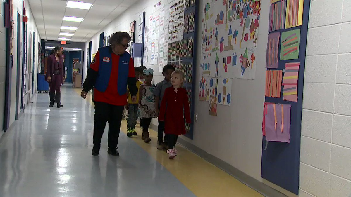 """""""If I wasn't doing this, I'd be lost.""""  This 95-year-old woman walks every day to her local elementary school to work with preschoolers—part of a foster grandparent program. @KarenTravers has more: https://abcn.ws/2EeKGLv"""