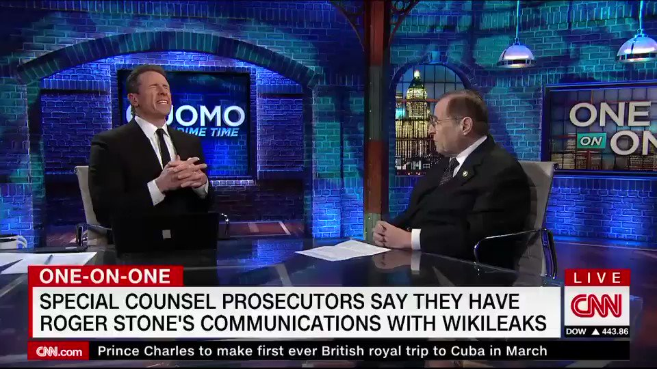 """Democrat @RepJerryNadler says it's important the Mueller probe sees the light of the day:   """"We have to get [out] all this material... 'Richard Nixon famously said, the American people have to know whether their President is a crook.' That was true then, that is true now."""""""