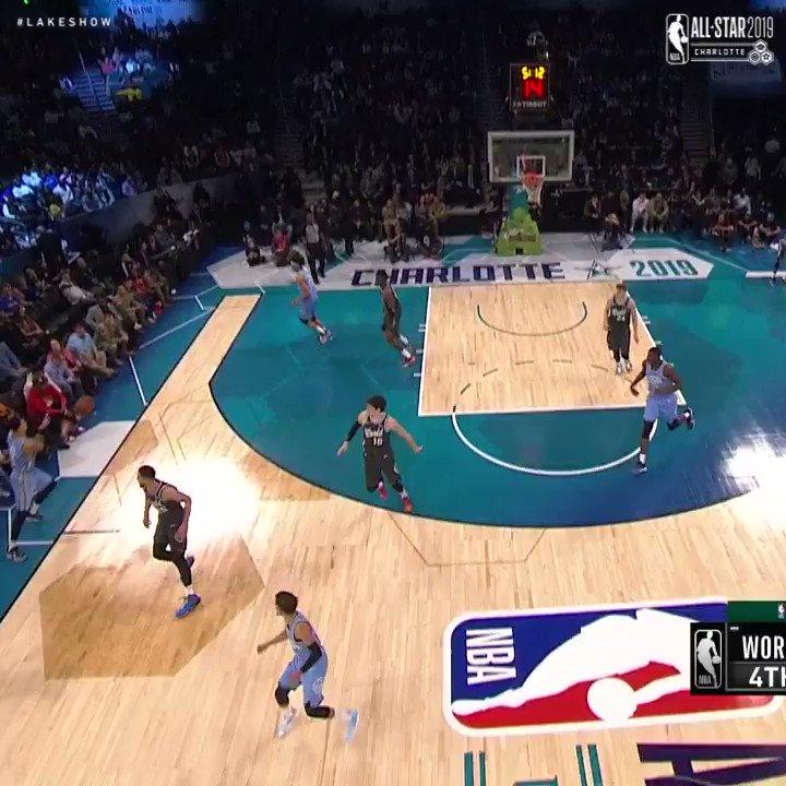 Kyle Kuzma off the inbound play! #MTNDEWICERisingStars
