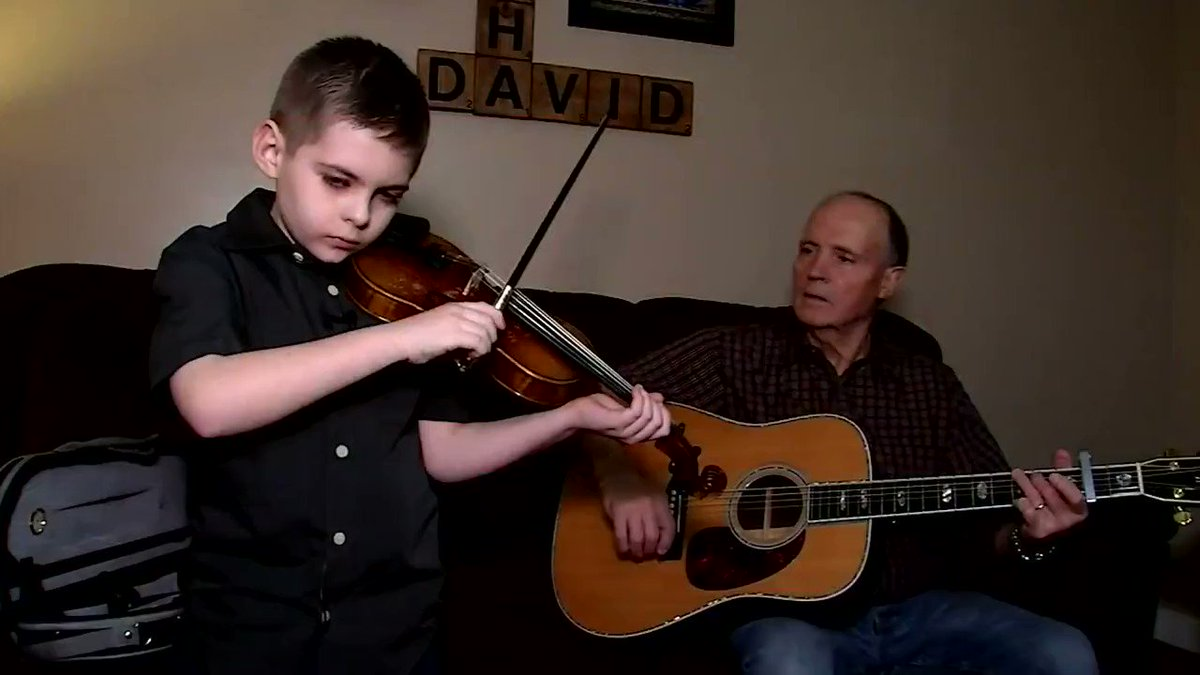 This guy can really tear it up on the fiddle, and he's only 9 years old. https://cir.ca/2DMALLs