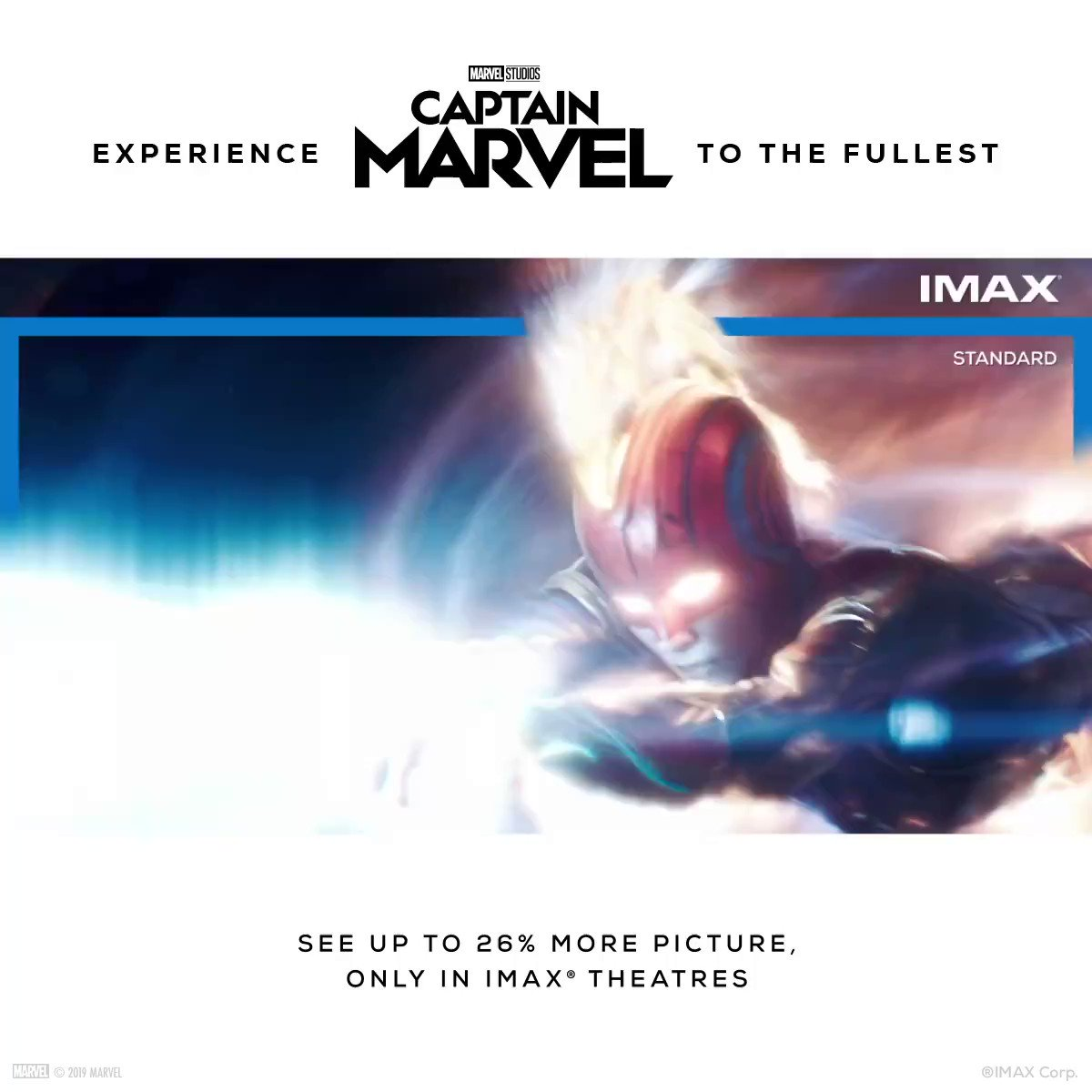 Characters as powerful as Carol Danvers deserve the most powerful cinema screens. 💥 Jump back into the MCU and immerse yourself in Marvel Studios's #CaptainMarvel in the IMAX to see up to 26% more picture. 🤯 Know more on https://voxcinemas.info/2I9ZpLE. #CaptainMarvelatVOX