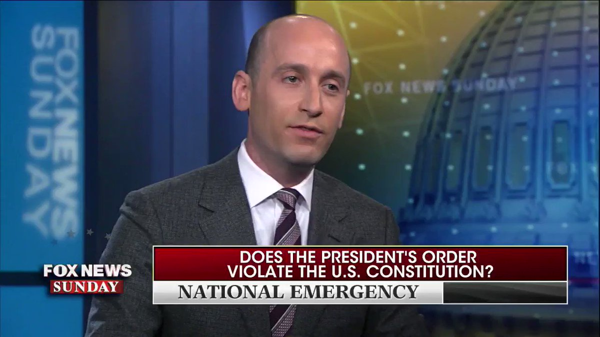 Holy crap Stephen Miller just destroyed Chris Wallace on his own show😂😂😂  So somebody get CSI on the scene😅😅 GIT EM‼️  #BorderCrisis