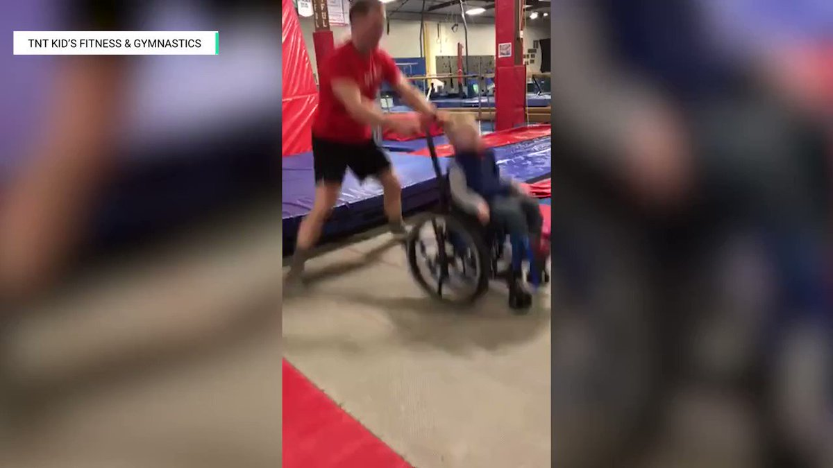 A 4-year-old spina bifida patient in Fargo, North Dakota is showing that jumping on the trampoline is fun for everyone. https://cir.ca/2DPsEO6