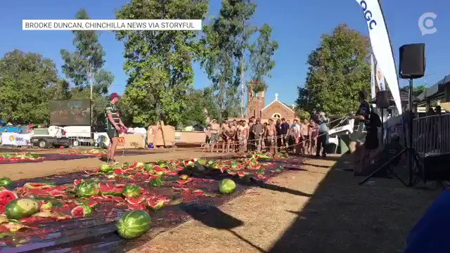 We want to move to Australia to compete in this watermelon slip and slide race. https://cir.ca/2TSYjVZ