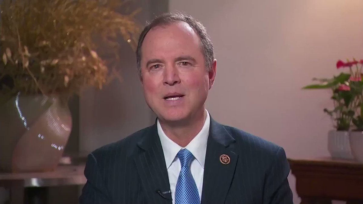 """Rep. Adam Schiff on 2020: """"I haven't made any decisions in the presidential race yet, it's still very early, but I have to say I've been very impressed with Kamala Harris as a senator and I've been extremely impressed with her as a candidate for president."""""""
