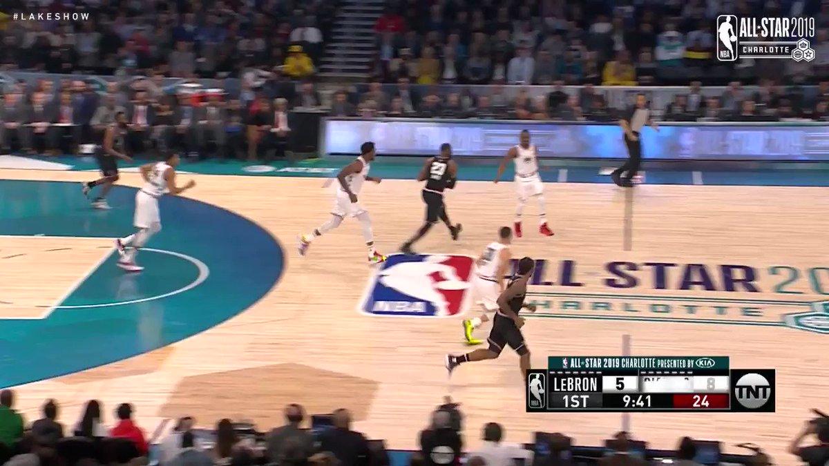 🎥 @KingsJames participó de la remontada de #TeamLeBron, aportando 19 puntos y 8 rebotes en el triunfo en el Juego de Estrellas: