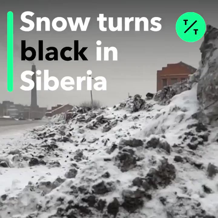 LOOK: This Siberian town is getting black snow allegedly caused by coal dust from local processing plants