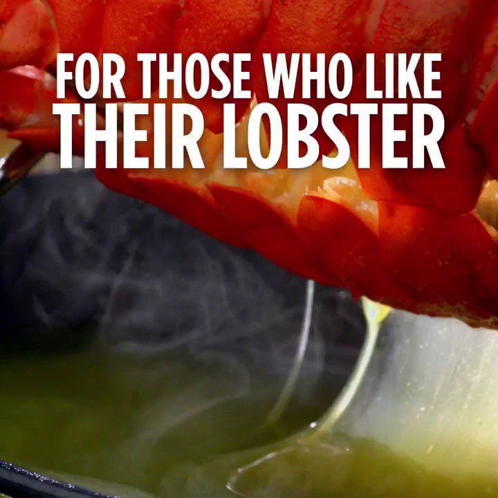 Image for the Tweet beginning: Because nothing goes with lobster