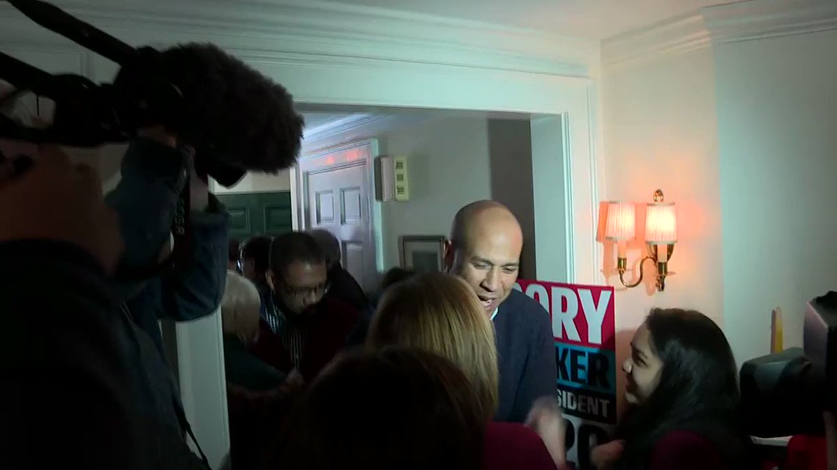 YESTERDAY: Sen. Cory Booker, who is running for the 2020 Democratic presidential nomination, speaks to voters in Nashua, New Hampshire.