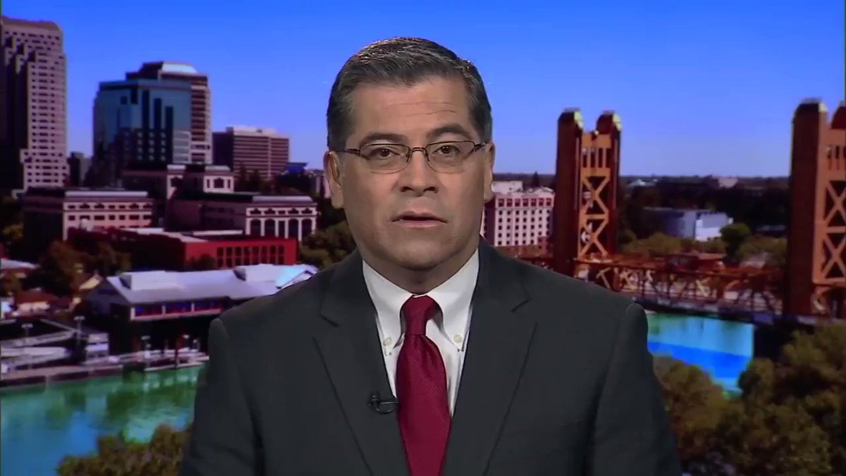 "California Attorney General Xavier Becerra: ""We're going to try to halt the President from violating the Constitution.""  Several states will join California lawsuit against Trump's border emergency declaration: http://hill.cm/bq6Rywj"