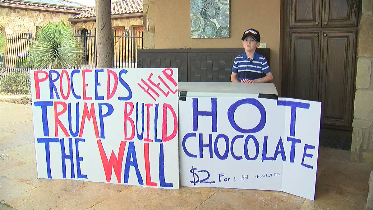 TONIGHT AT 10: 7-year-old boy raising money for the border wall. Hear from his family only on CBS Austin https://cbsaustin.com/watch
