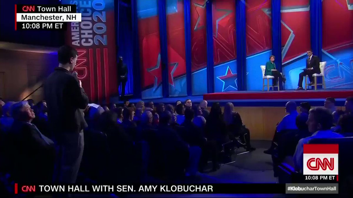 "Democratic Sen. Amy Klobuchar on whether the Green New Deal is achievable: ""I think we can get close ... This is put out there as an aspiration in that something that we need to move towards."" #KlobucharTownHall http://cnn.it/2EgNGH8"