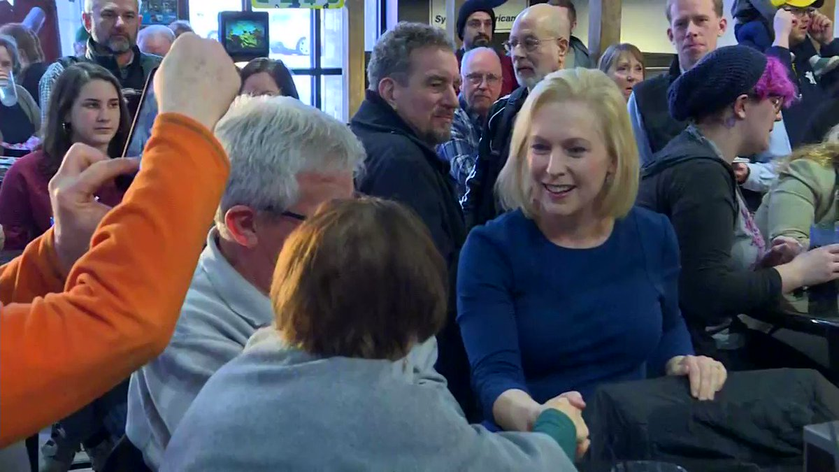 YESTERDAY: Sen. Kirsten Gillibrand, who is running for the 2020 Democratic presidential nomination, speaks to voters in Cedar Rapids, IA.