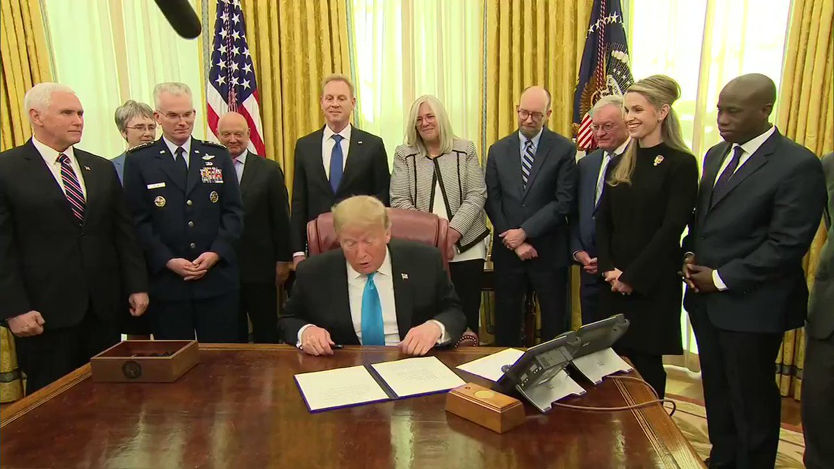"President Trump signs directive to establish a ""Space Force"" as the newest branch of the military http://hill.cm/4eVmcLw"
