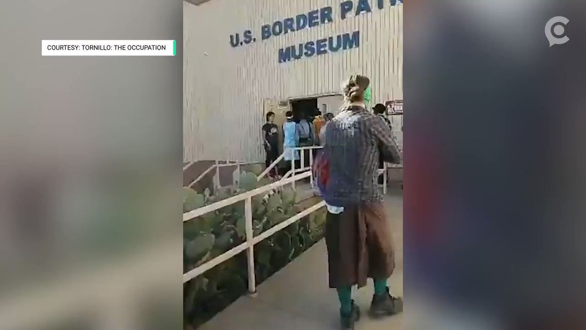 A museum employee says a group of protesters defaced a place to honor and pray for fallen #BorderPatrol agents in the @BorderPatrolMus https://cir.ca/2SLZEkJ