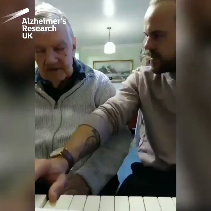 """""""Dementia has its good and bad days. Saw my grandad today and it was a good day. He taught me this song when I was 12 and we managed to play it together."""" – Rikki   Let's #MakeBreakthroughsPossible so grandads and grandsons can keep playing together for longer."""