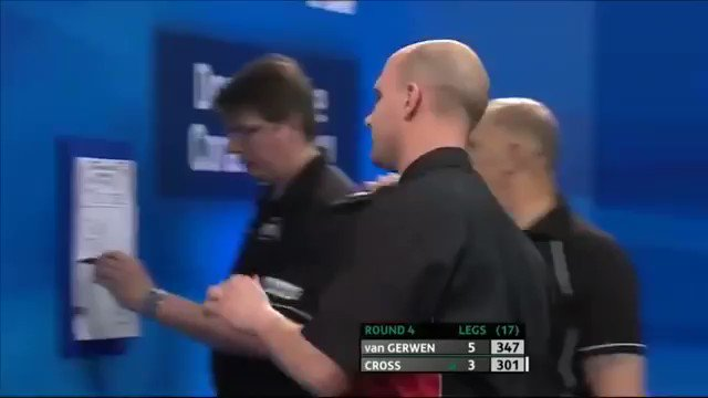 Tomorrow will mark the 15th meeting between Michael van Gerwen and Rob Cross...   Who remembers the first time they met and MvG did THIS!  Nine-darter and two 170 checkouts 🎯