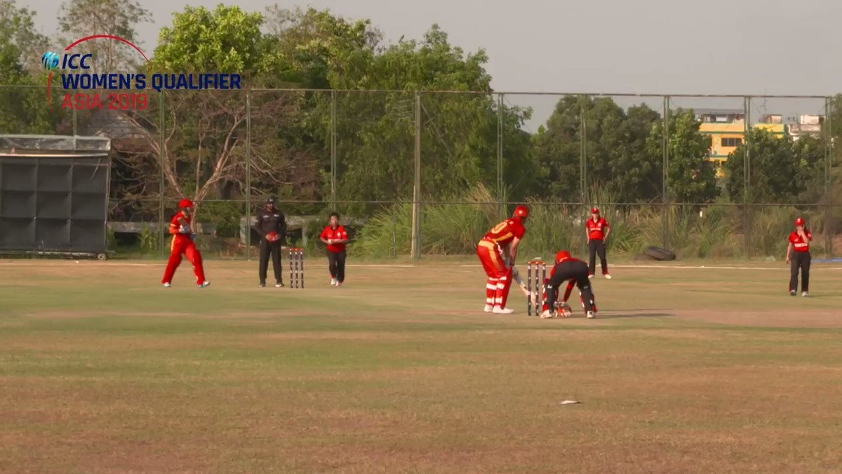 4⃣ to win 2⃣ wickets in hand  What a last over this was between Hong Kong and China in the ICC Women's Asia Qualifier 2019!  WATCH ⬇️