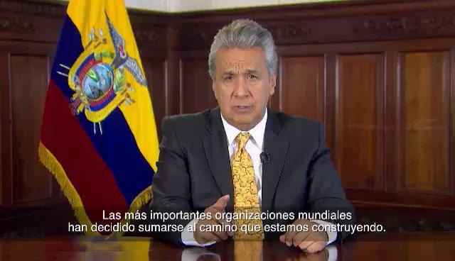 Miramos con optimismo el plan #EcuadorConMasProsperidad con miras a consolidar la economía del país y sus esfuerzos para alcanzar las metas planteadas en los Objetivos de Desarrollo Sostenible #ODSEcuador