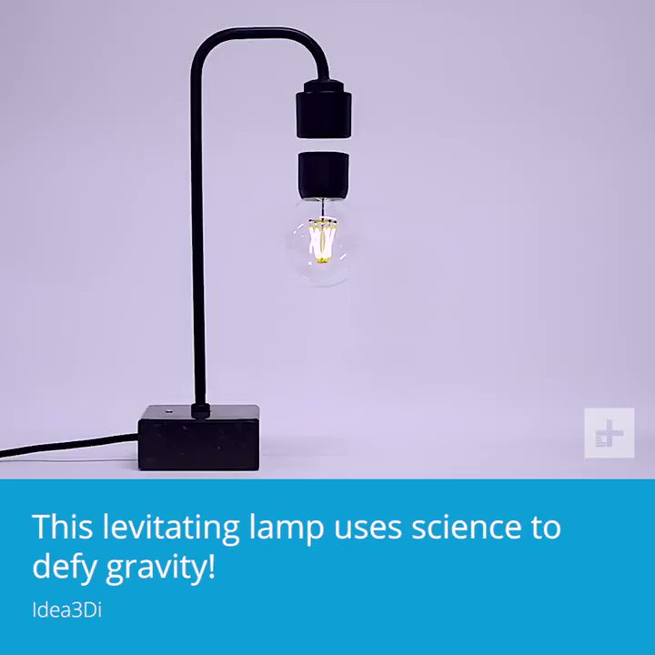 Image for the Tweet beginning: This lamp is defying gravity.
