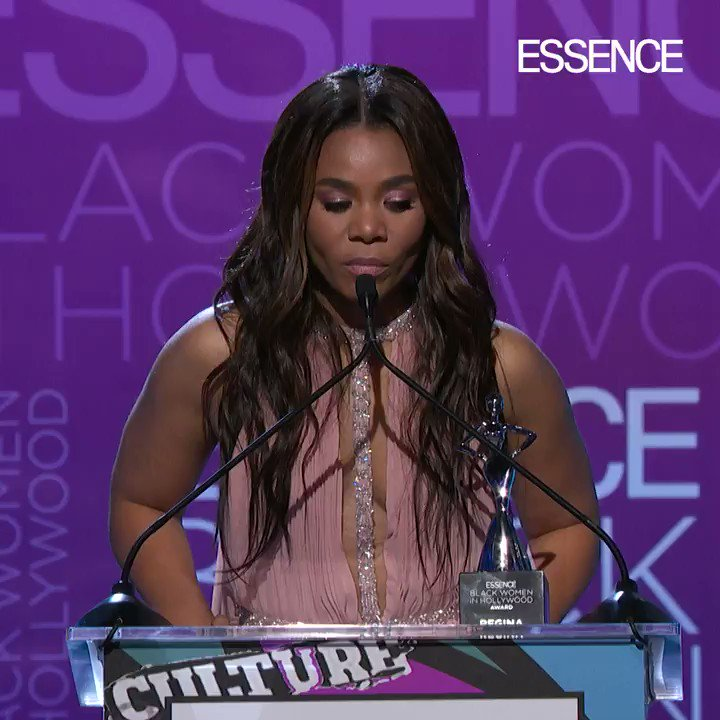 #BlackWomenInHollywood honoree @morereginahall shows us what true sisterhood looks like as she accepts her award!