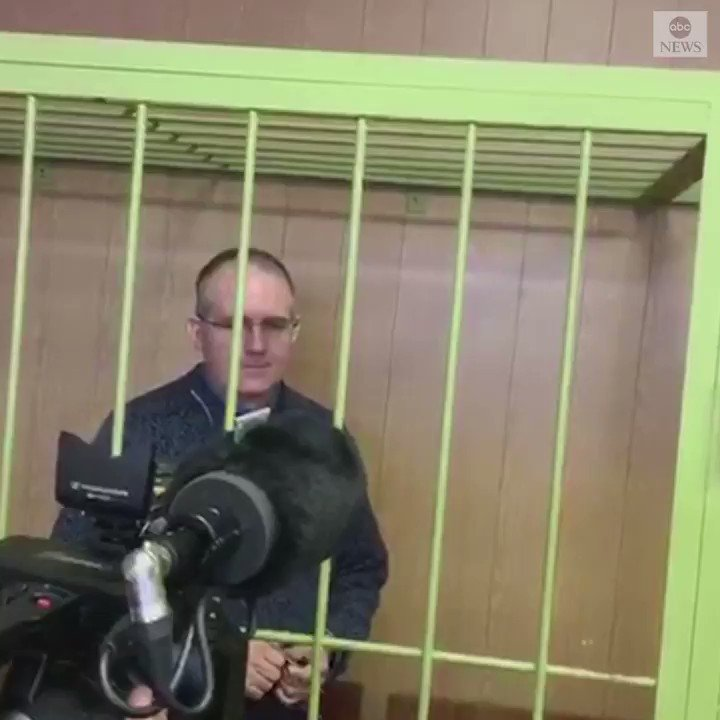 "Paul Whelan, the former U.S. Marine held on espionage charges in Russia, spoke with reporters for the first time, telling them he was feeling ""fine."" A Moscow court extended his detention at least three months. https://abcn.ws/2STll2s"