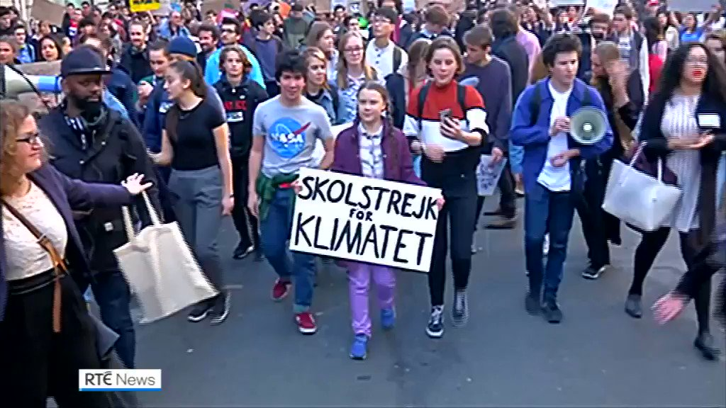 Climate activist Greta Thunberg brought her school strike campaign to Paris this morning. The Swedish teenager is hoping to encourage French students and others around the world to hit the streets with demands for more ambitious actions on combat global warming.