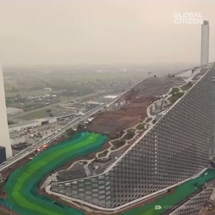 This ski slope is built on TOP of a waste plant ⛷️😱