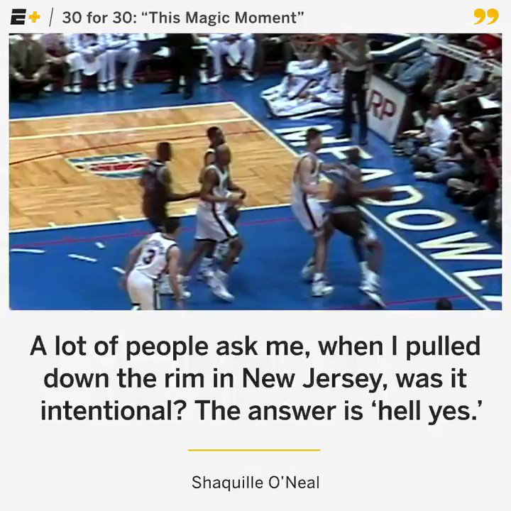 On @SHAQ's birthday, here's a reminder that backboards didn't stand a chance against him 😤