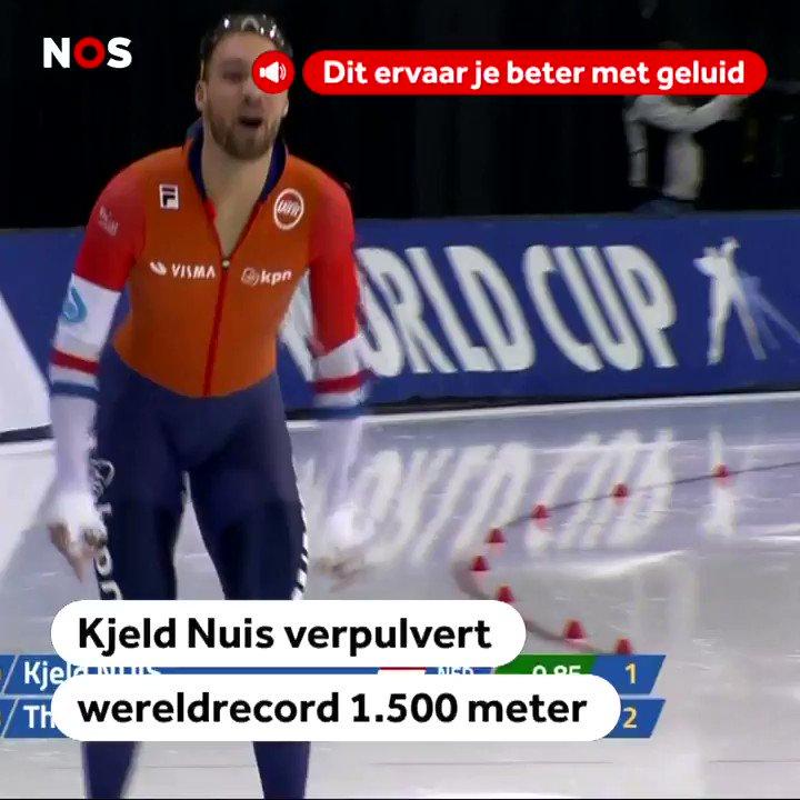 Kjeld Nuis behaalt wereldrecord op de 1500 meter. Bekijk de beelden