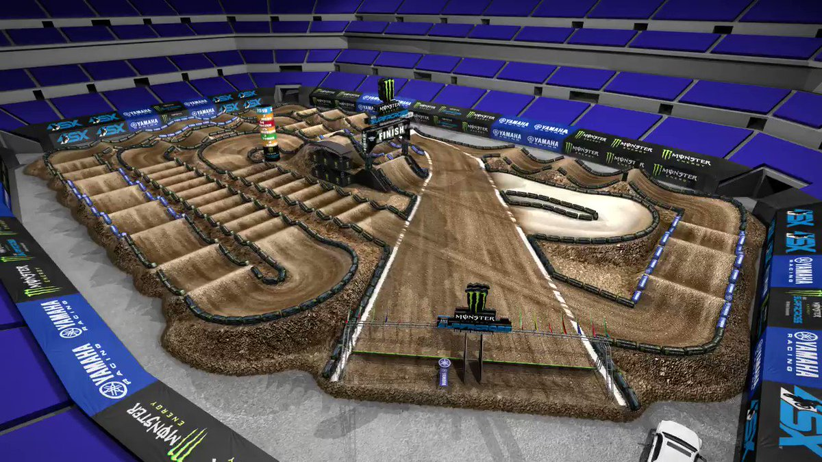It is an awesome @yamahamotorusa track map for Round 11 of @monsterenergy Supercross in Indianapolis this Saturday! #SupercrossLIVE #DropTheGate